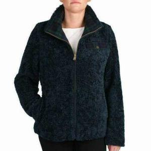 Pendleton wool blend navy blue sherpa fuzzy jacket